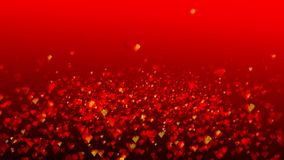 Valentine Hearts. Computer generated Valentine Hearts on red background stock footage