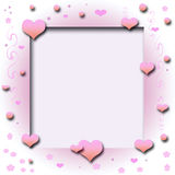 Valentine hearts cutout. Valentine hearts and vines frame cutout center Stock Photo