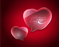 Valentine hearts design Stock Images