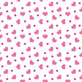 Valentine hearts with dots. A background of valentine hearts with dots vector illustration