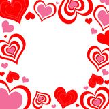 Valentine hearts with dots Royalty Free Stock Images