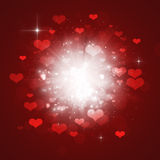 Valentine Hearts Explosion Stock Photography