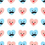 Valentine hearts with eyes. Vector illustration Stock Image