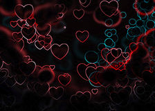 Valentine Hearts Festive Background Royalty Free Stock Images