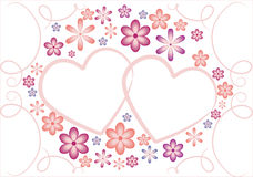 Valentine hearts and flower Royalty Free Stock Photos