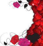 Valentine Hearts and  flowers Royalty Free Stock Photos
