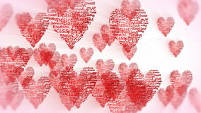 Valentine hearts flying, stock footage Royalty Free Stock Image