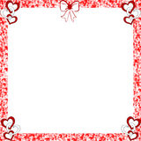 Valentine Hearts Frame Distressed Edges Royalty Free Stock Image