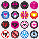 Valentine hearts gradient eps Royalty Free Stock Photos