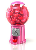 Valentine Hearts Gumball Machine Stock Images