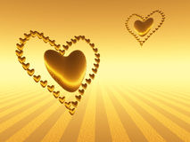 Valentine hearts, holiday love. Stock Photography