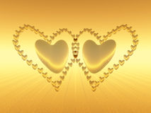 Valentine hearts, holiday love. Royalty Free Stock Images