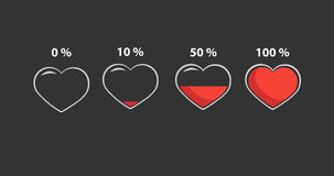 Valentine hearts. Minimal infographics Valentine hearts. Vector Stock Image