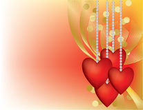 Valentine Hearts On A Chain Royalty Free Stock Photo