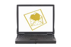 Valentine hearts, online dating Royalty Free Stock Photos