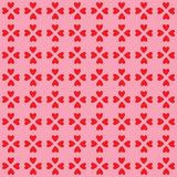 Valentine hearts pattern Royalty Free Stock Photo