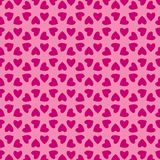 Valentine hearts pattern. A background pattern of valentine hearts in shades of pink Stock Photos