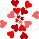Valentine hearts pattern romantic greeting card Stock Photo