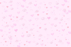 Valentine Hearts Pink Background Royalty Free Stock Images