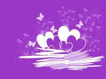 Valentine Hearts Purple Stock Photography