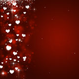 Valentine Hearts Red Background Images stock