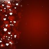 Valentine Hearts Red Background Immagini Stock