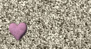 Valentine hearts from rocks background  - 3d rendering. 2 Stock Photography