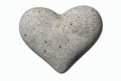 Valentine hearts from rocks background isolated - 3d rendering. 1 Stock Images