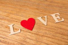 Valentine hearts on rustic wooden background Royalty Free Stock Photography