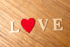 Valentine hearts on rustic wooden background Royalty Free Stock Photo