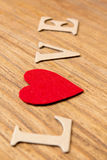 Valentine hearts on rustic wooden background Royalty Free Stock Image