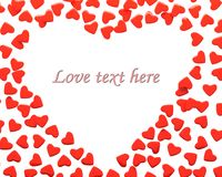 Valentine hearts with sample text Stock Photo
