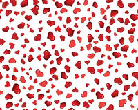 Valentine hearts seamless background. St. Valentine Day  seamless background  with hearts Royalty Free Stock Images