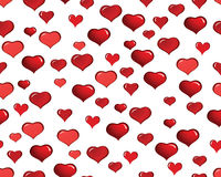 Valentine hearts seamless background Royalty Free Stock Photo