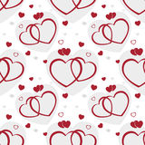 Seamless pattern Valentine hearts background Stock Photography