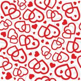 Hearts seamless patern background - vector Royalty Free Stock Photo