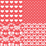 Valentine hearts seamless pattern, Abstract background Stock Images