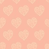 Valentine hearts seamless pattern Royalty Free Stock Photography