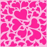 Valentine hearts seamless pattern Royalty Free Stock Image