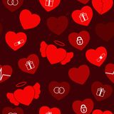 Valentine Hearts Seamless Royalty Free Stock Image