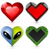 Valentine hearts set royalty free illustration
