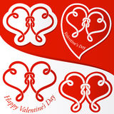 Valentine hearts set Stock Photo