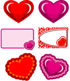 Valentine hearts set Stock Photography