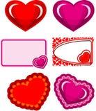 Valentine hearts set Stock Photography