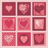Valentine Hearts Set Stock Images