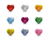 Valentine hearts set Royalty Free Stock Photos