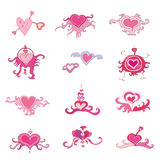 Valentine hearts set. Set of hearts illustrations, To see more hearts sets, please visit my gallery Vector Illustration