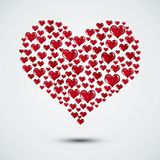 Valentine Hearts Shape Card ilustración del vector
