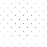 Valentine hearts sparse pattern Royalty Free Stock Image