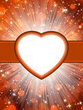 Valentine hearts St.Valentine's Day. EPS 10. Valentine hearts abstract orange background. St.Valentine's Day. EPS 10 vector file included Stock Images